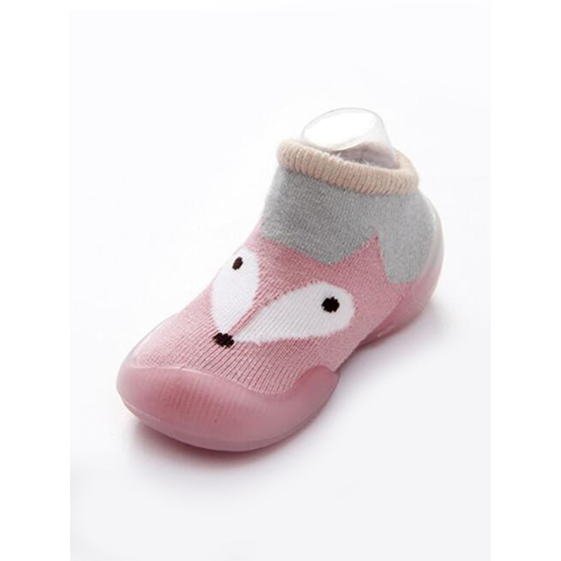 Kiskissing pink Silica Gel Soles Antiskid Baby Socks Cute Cartoon Breathable Combed Cotton  Jacquard Weave For Babies wholesale baby accessories