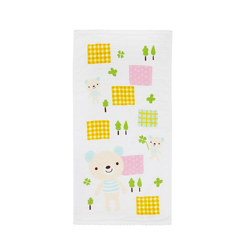 Double-layer Gauze Face Towel Animal Paradise Walf Checks Hollow Bath Towel