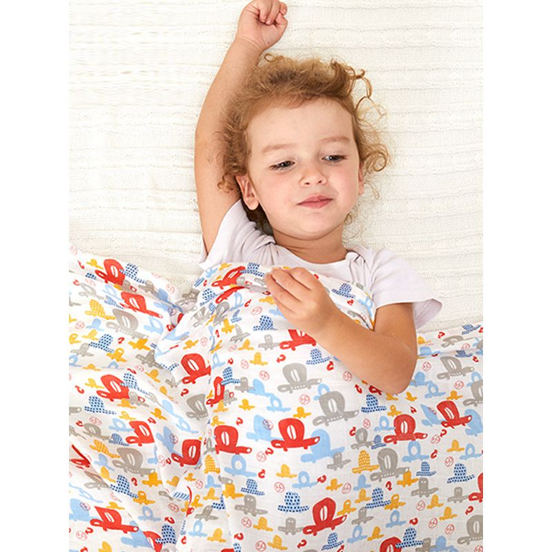 Double-layer Gauze Bamboo Cotton Blanket Newborn Wrapped Towel Kids Soft Towel Blanket