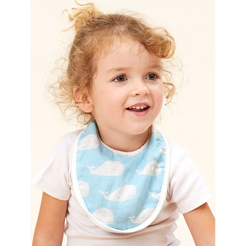 Cotton Double-layer Gauze Bibs Thin Double Side Available Bibs Kids Round Pinafore