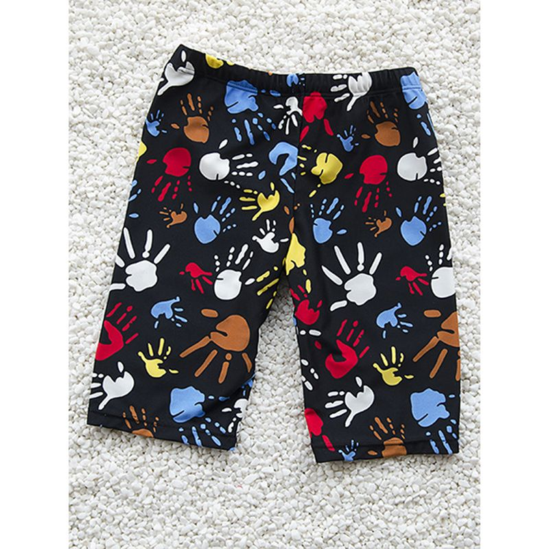 Kiskissing Cute Cartoon Printed Swimming Trunks SWIMWEAR Shorts High Elastic for Boys trendy kids wholesale clothing