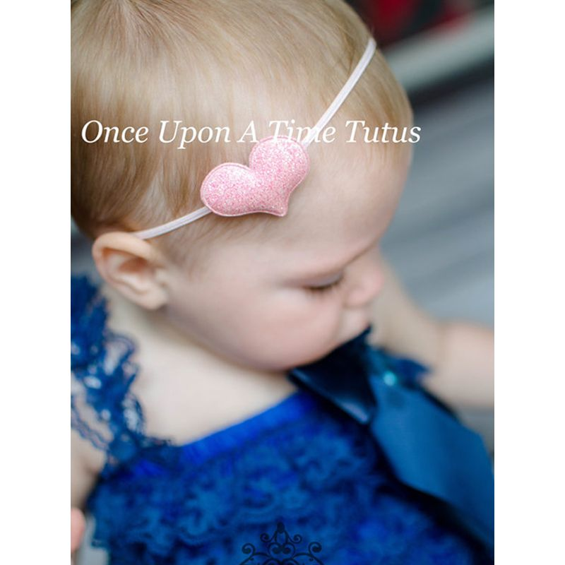 Cute Heart Pattern Elastic Baby Hairband Newborn Hair Accessories