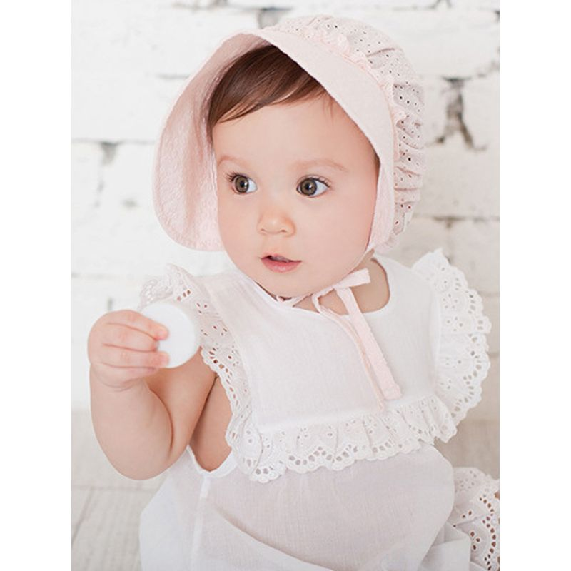 Breathable Cotton Short Brim Cap Adumbral Sunhat For Baby Girls