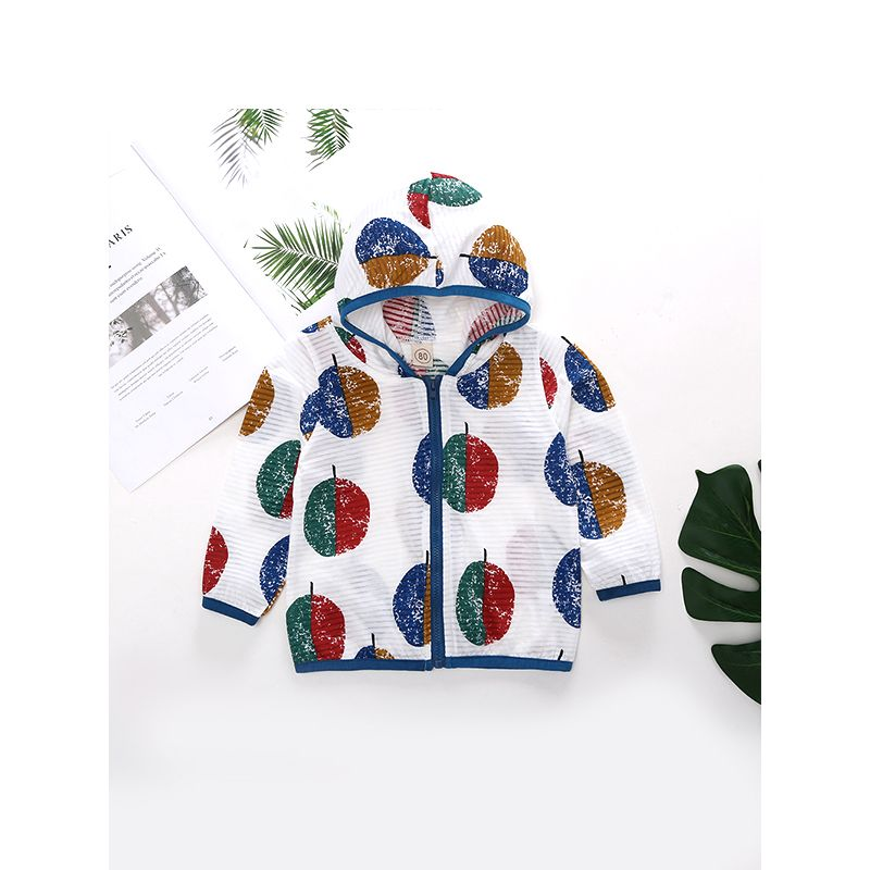 Air Balloon Printed Thin Baby Coat Breathable Hygroscopic Sun-resistant Toddlers Jacket