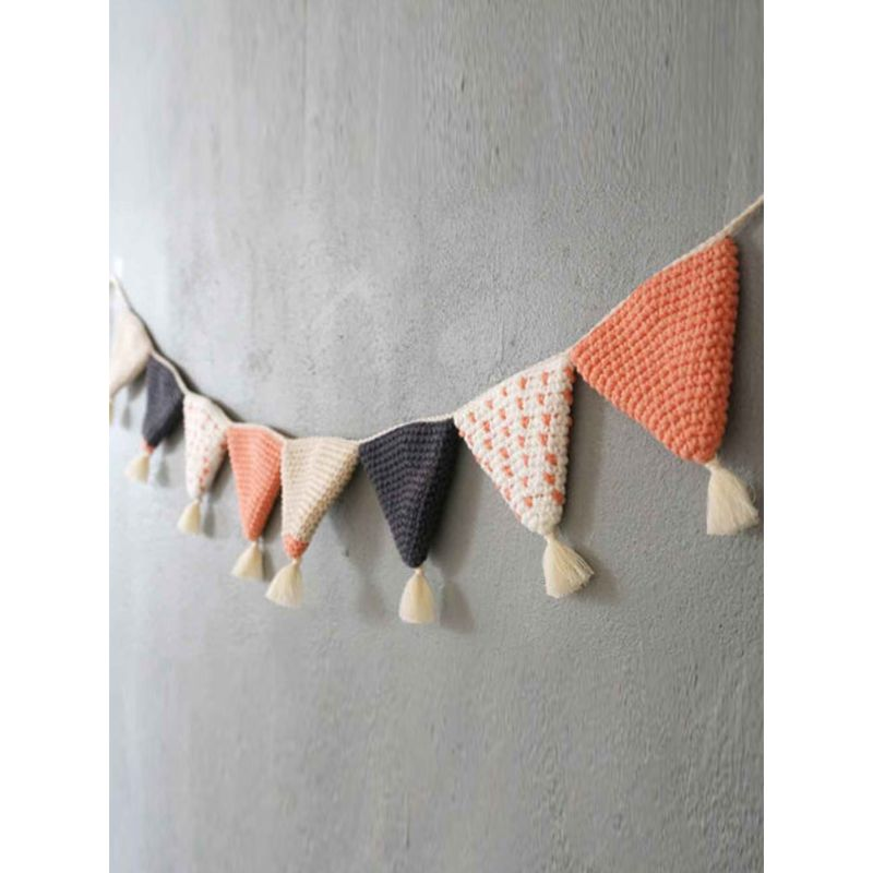 Handmade Crochet Kids Room Hang Decorations Household Pennant Hanging Flag
