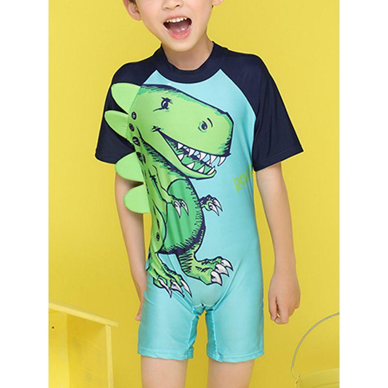 980613a718514 Cartoon Dinosaur Print Elastic Swimwear Swimming Beach Pool Hot Spring for Toddlers  Boys