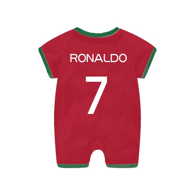 Portuguese Cristiano Ronaldo Football Soccer Jersey Pattern Romper Bodysuit 2018 Russia FIFA World Cup for Baby Boys