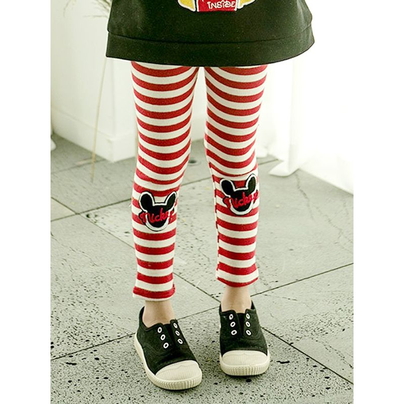 Striped Cute Cotton Leggings Pants Trousers for Toddlers Girls