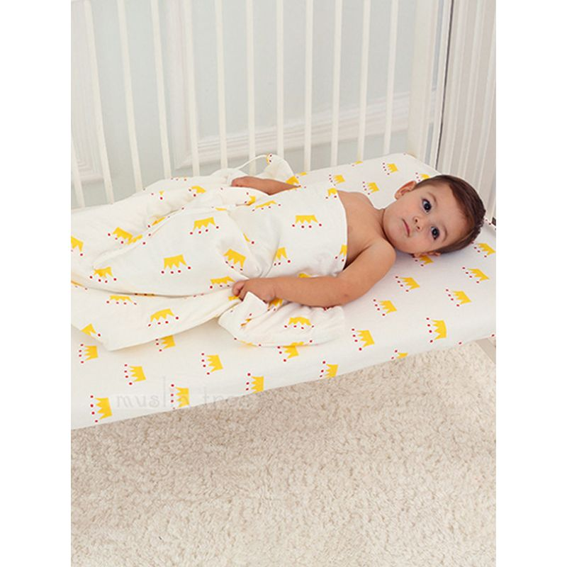 Cute Cartoon Print Cotton Crib Bedding Fitted Bed Sheet Fitted Cover
