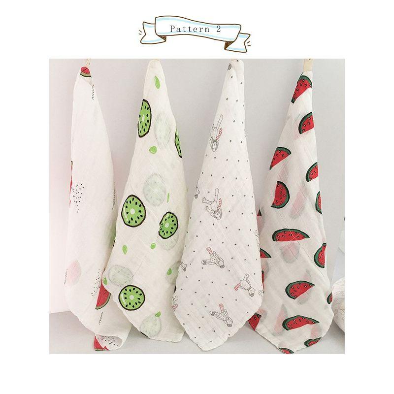 3 PCS/Pack Random Color Cotton Hydrophilic Baby Hand Towel Toddler Bibs Kids Handkerchief