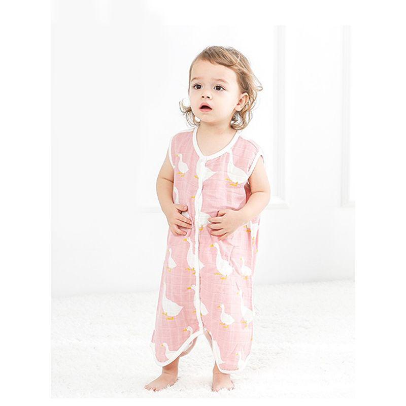 Cute Animals Print Baby Romper Thin Sleeveless Summer Toddler Onesies Sleepsuit