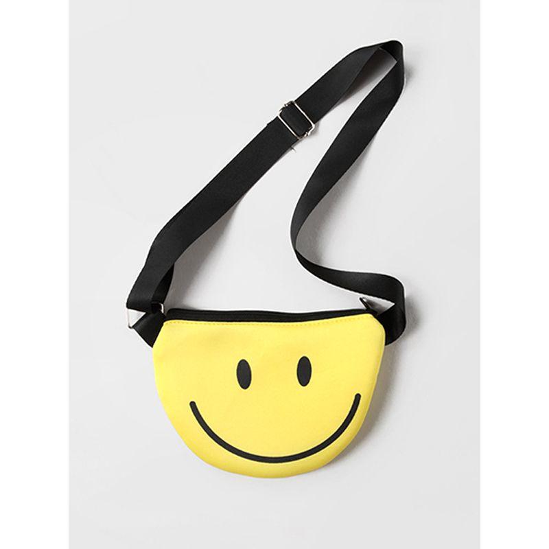 Cute Cartoon Big Smile Satchel Bag Adjustable Strap Zip up for Baby Toddler Girls Boys