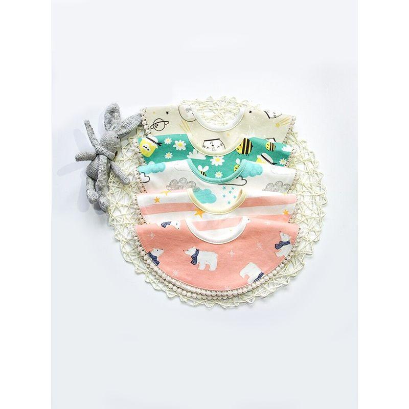 Cute Cartoon Print 360 Degree Rotation Baby Toddler Bibs Cotton