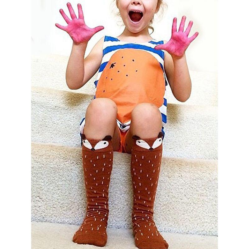Cute Fox Pattern Stockings Socks for Baby Toddler Girls Boys