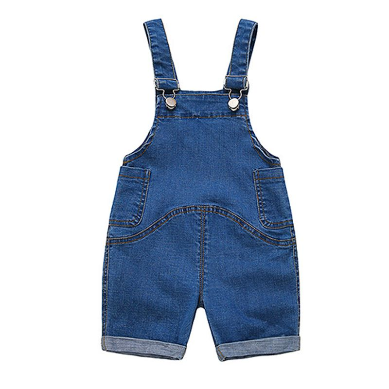 Strapped Denim Overalls Jumpsuits Shorts for Baby Toddler Boys Girls Summer