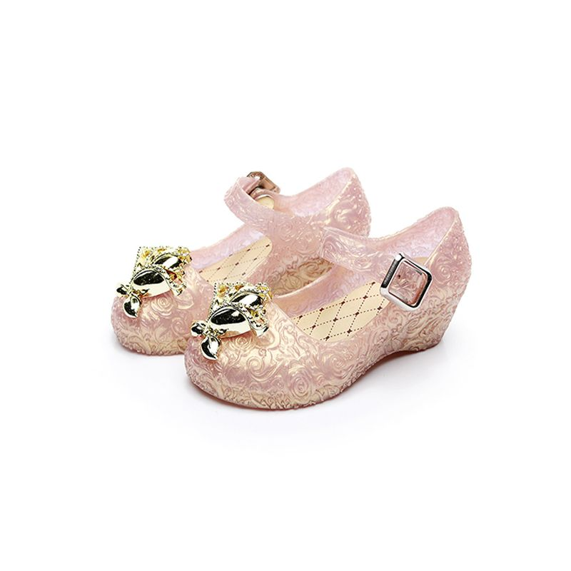 Princess Crystal-like Shoes Wedge Heel Party Wear for Babies Toddlers Girls