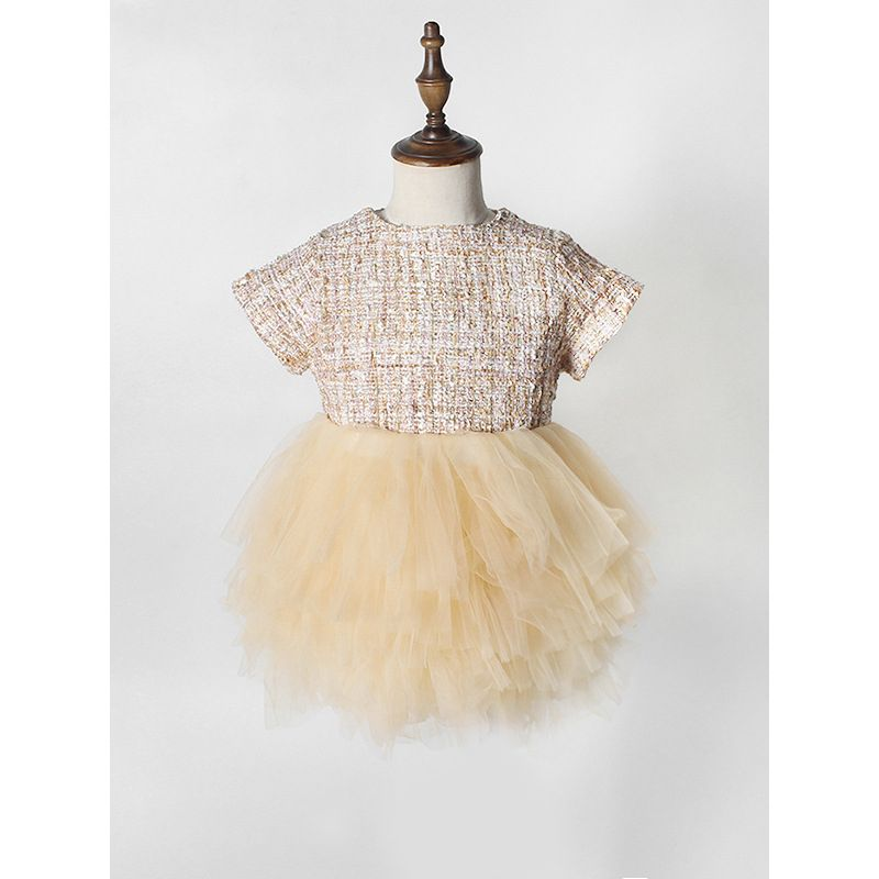Paneled Spanish Style Tulle TUTU PRINCESS DRESS for Babies Toddlers Girls