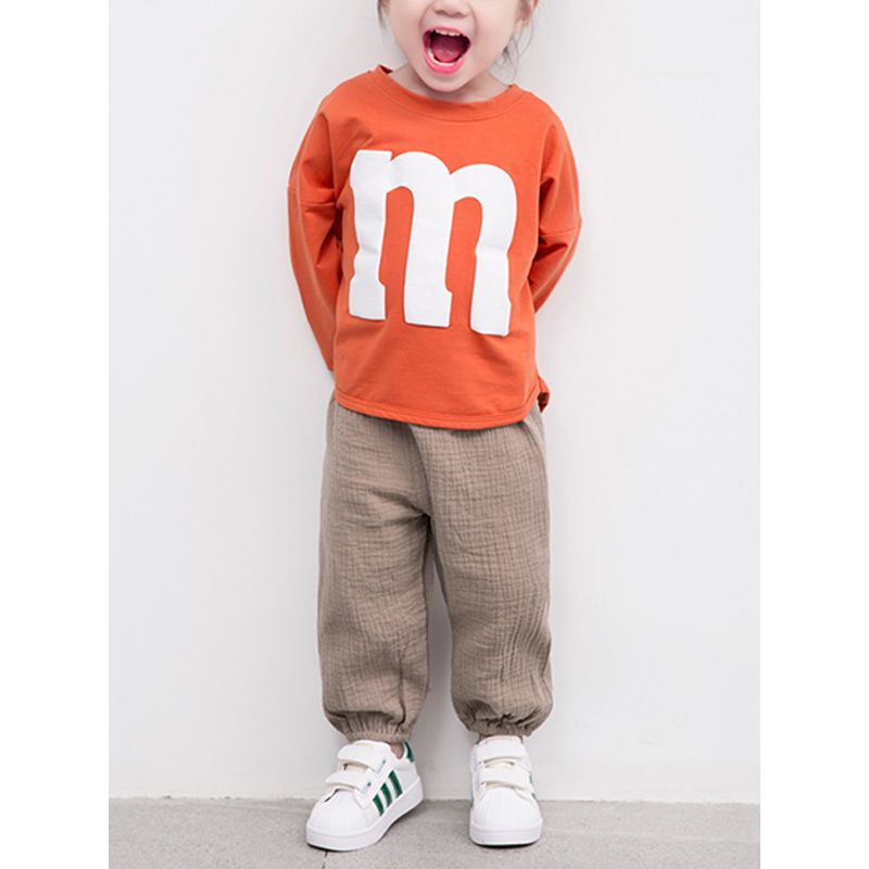 Solid Color Soft Cotton Pants Trousers Pantalettes for Baby Toddler Boys Girls