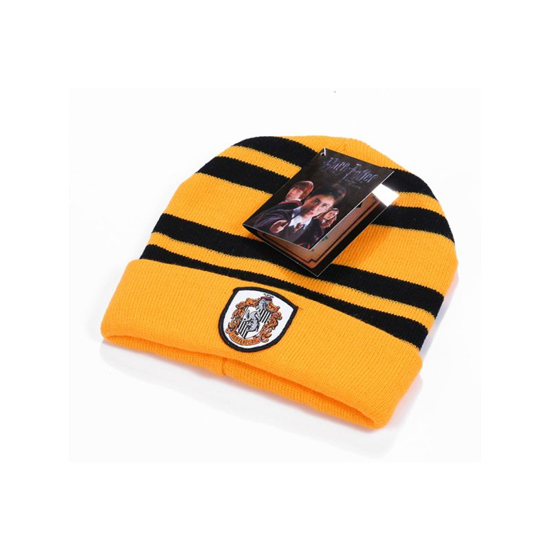 Cosplay Harry Porter Knitted Cap Badge Party Holiday Wear Hat for Boys Girls