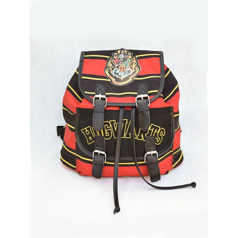 Cosplay Harry Porter Canvas Backpack Strapped Striped for Boys Girls