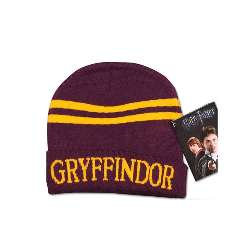 Cosplay Harry Porter Knitted Cap Letters Stripes Hat for Boys Girls