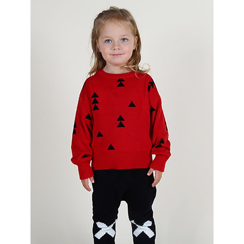 Christmas Tree Knitted Cotton Sweater Long-sleeve for Baby Toddler Boys Girls