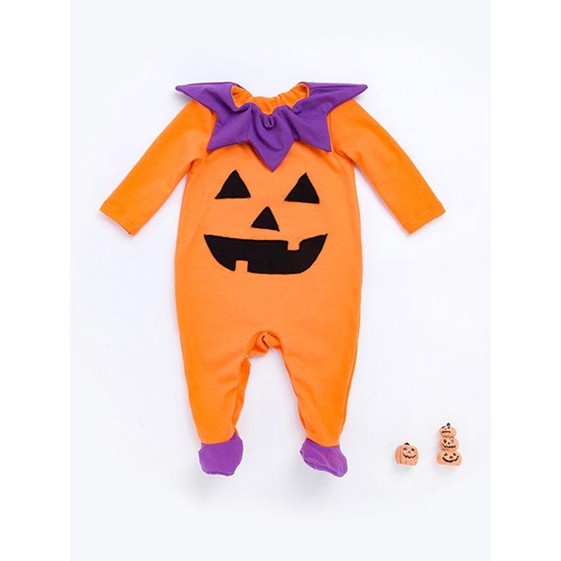 0eb107b40a5 Halloween Pumpkin Romper Long-sleeve Jumpsuit Holiday Wear for Baby Boys  Girls