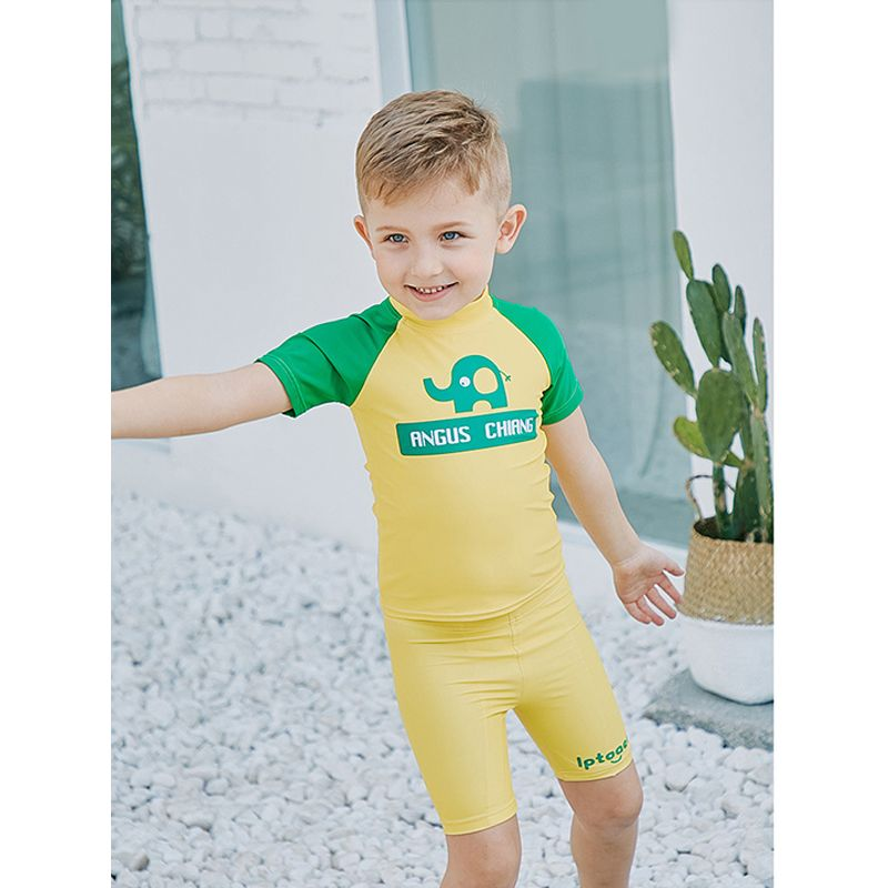 7823c944ae9 2-piece Top Shorts Boys Bathing Suit Set Sun Protective Kids Swimwear - UPF  50
