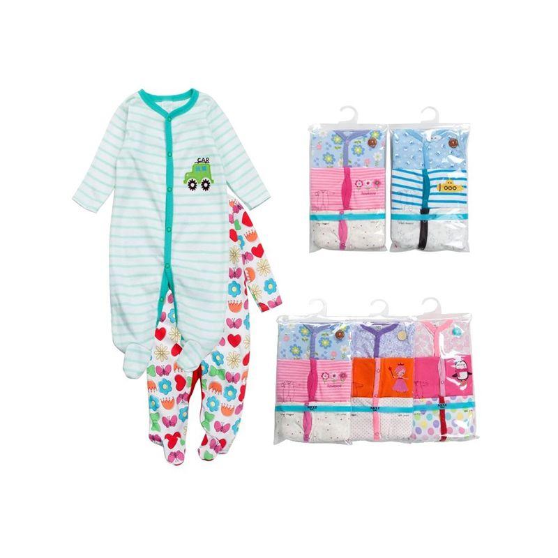 ebb26c72ef2a 3 pieces Cotton Rompers Pack Long sleeve Jumpsuit Onesie for Baby Girls  Boys NEWBORN Random Prints