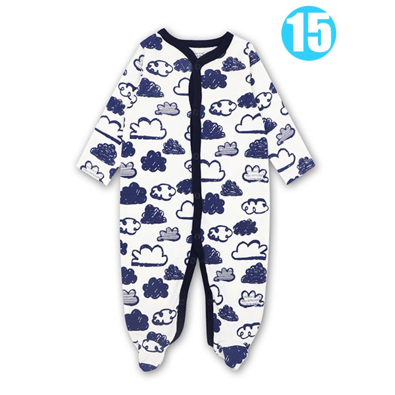 Clouds/Hearts/Stripes Cotton Romper Jumpsuit Onesie Pajamas for Babies NEW BORN