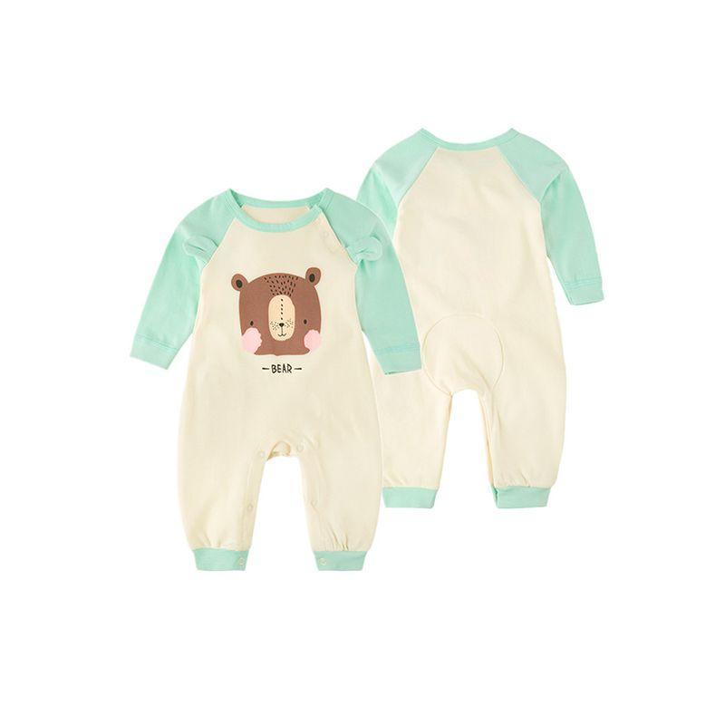 Cute Cartoon Monster/Bear Cotton Romper Long sleeve Jumpsuit for Baby Girls Boys NEWBORN