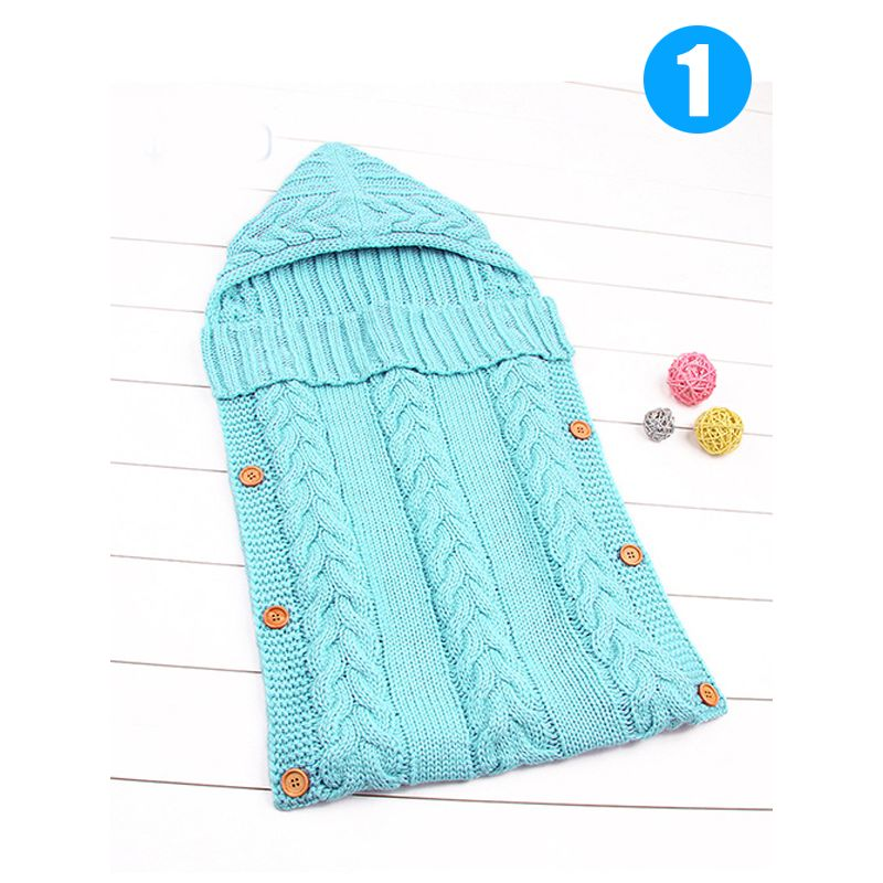 Solid Color Acrylic Newborn Baby Wrapper Sleeping Bag