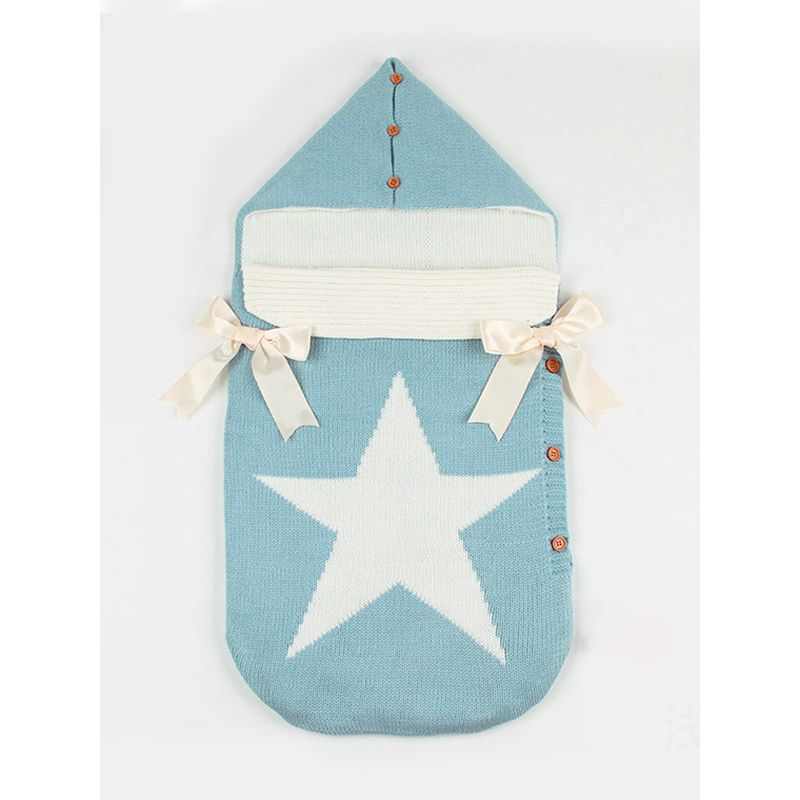 Five-pointed Star Bowknot Buttoned Baby Sleeping Bag