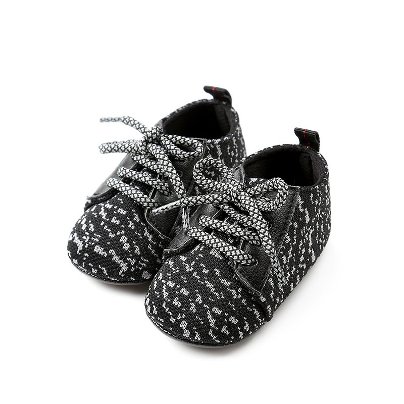 73d549ceb0a0 Baby Soft Sole Laceup Walking Shoes Non-Slip Crib Shoes for Toddlers  Knitted Style