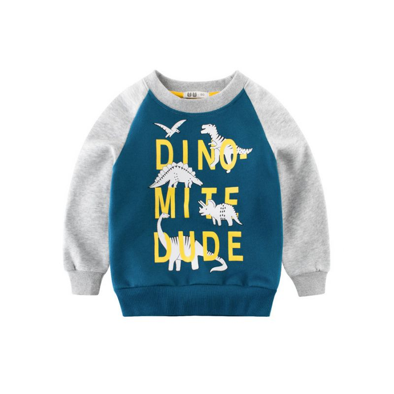 Winter Boys Sweater Printing Letter Pullover T-Shirt Children Casual Clothes