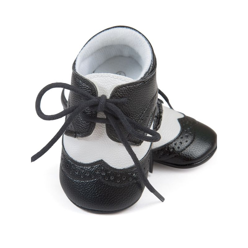 6 PAIRS/PACK British Style Laceup Non-Slip Crib Shoes Baby Boys Girls First Walking Shoes