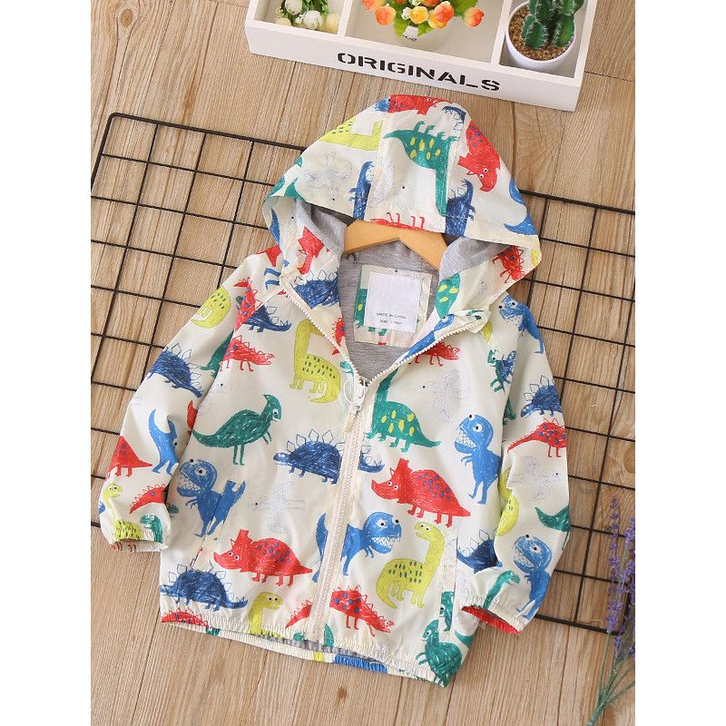 good quality new list real quality Wholesale Cute Colorful Dinosaur Print Kids´ Clothing