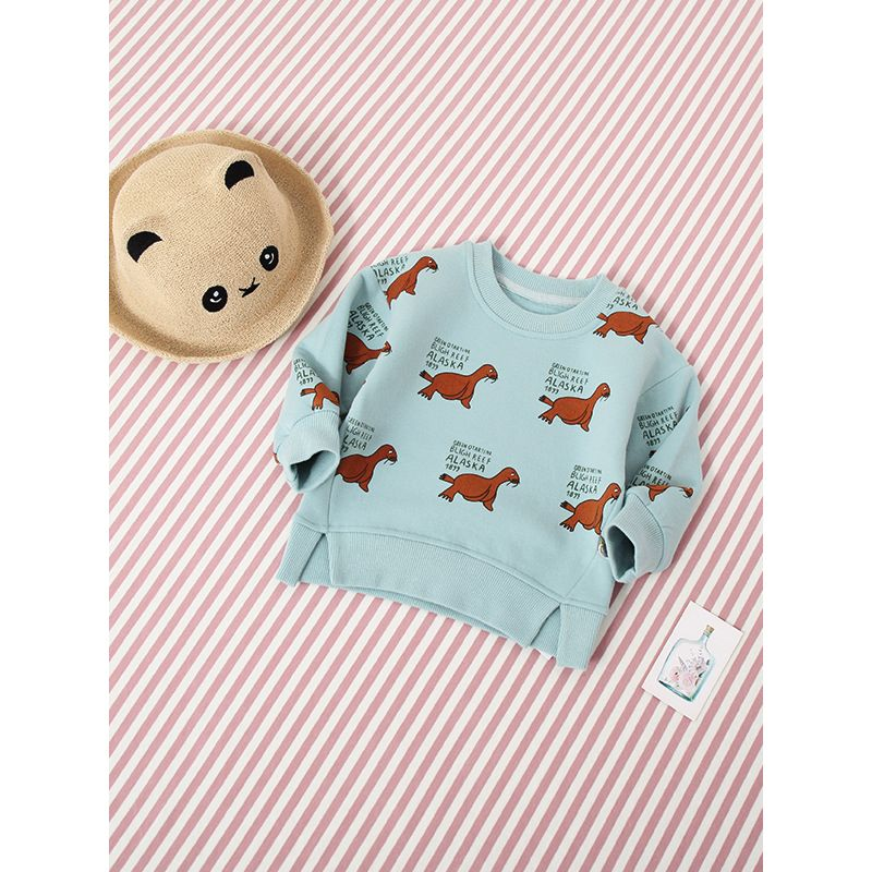 Cactus Set Print Toddler Childrens Crew Neck Sweater Long Sleeve Warm Knitted Sweater Jumper