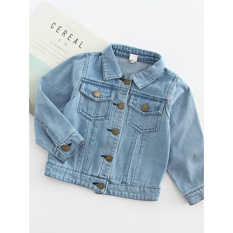1186e28770 Stylish Rainbow Embroidered Denim Jacket Kids Big Girls Jeans Jacket for  Autumn Winter Wholesale