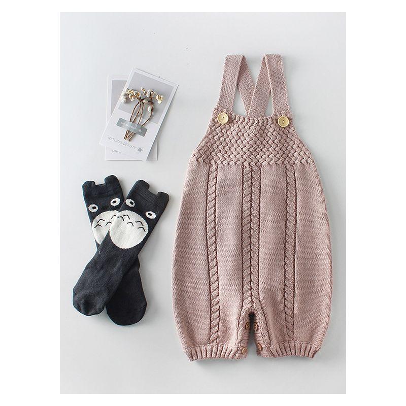 adf820e92 Wholesale Autumn Crochet Cotton Suspender Baby Rompers