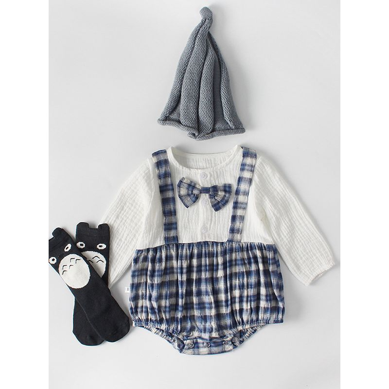 Wholesale Checked Baby Boy Cotton Romper Onesie Long Sl,Chocolate Brown Brown Brick And Paint Color Combinations