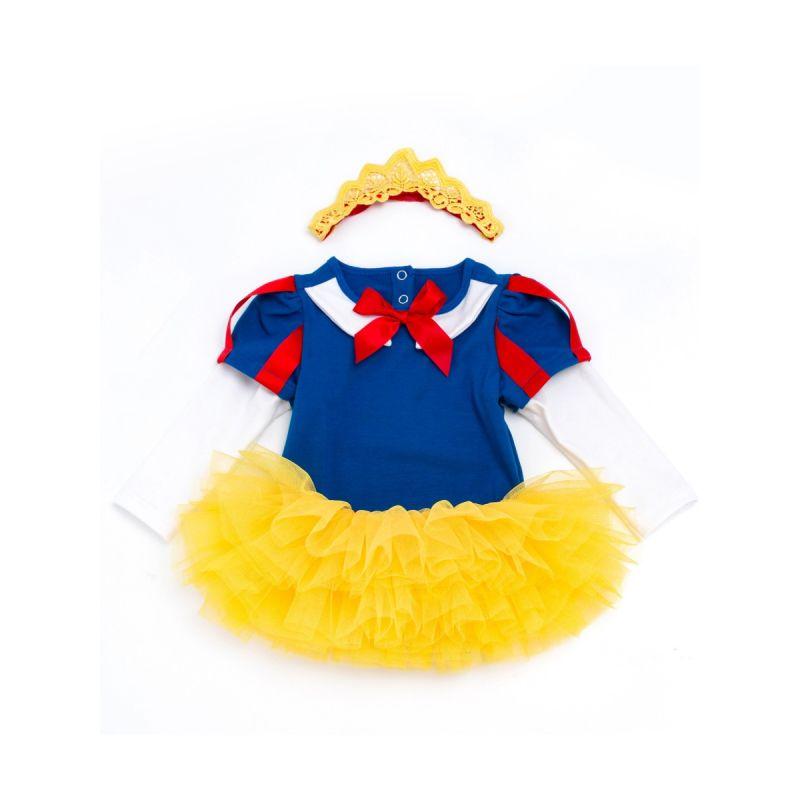 3 Pieces Fairy Tale Princess Romper Tutu Skirt Headband Set for Baby Girls Halloween Holiday
