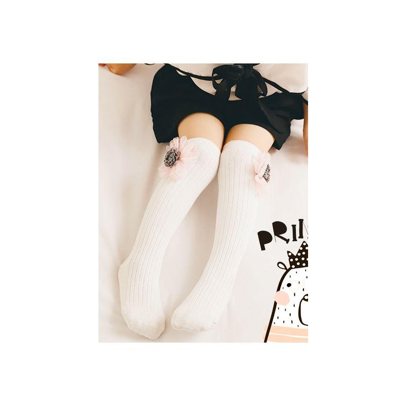Cute Rabbit/Cat/Strawberry/Flower/Star Trimmed Baby Toddler Girl Knee High Warmer Socks Long Stockings