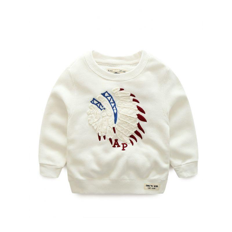 Trendy Head Portrait Cotton Sweatshirt Toddler Big Boys Pullover Jumper Long Sleeve