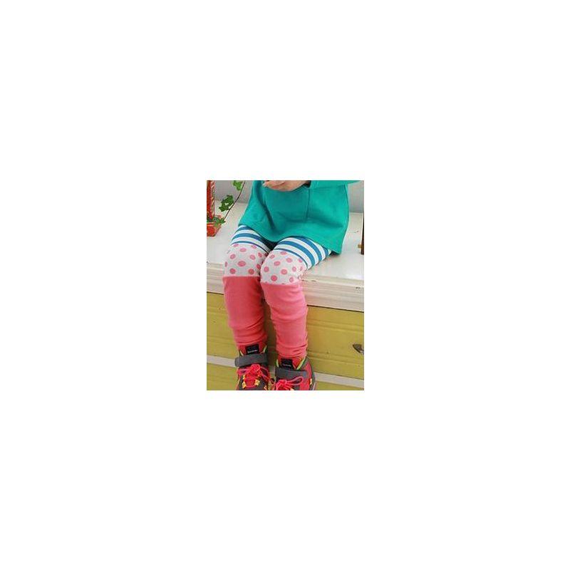 Polka Dots Striped Color-blocking Toddler Big Girl Leggings Kids Render Pants for Spring Autumn