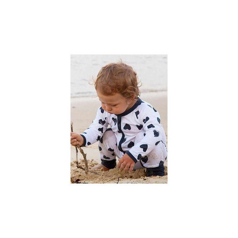 47646489621 Love Heart Zipper Infant Romper Baby Girl Boy Jumpsuit for Spring Autumn