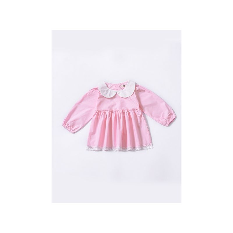 Cute Peter Pan Collar Baby Girl Dress Lace Trimmed Spanish Style Baby Clothes