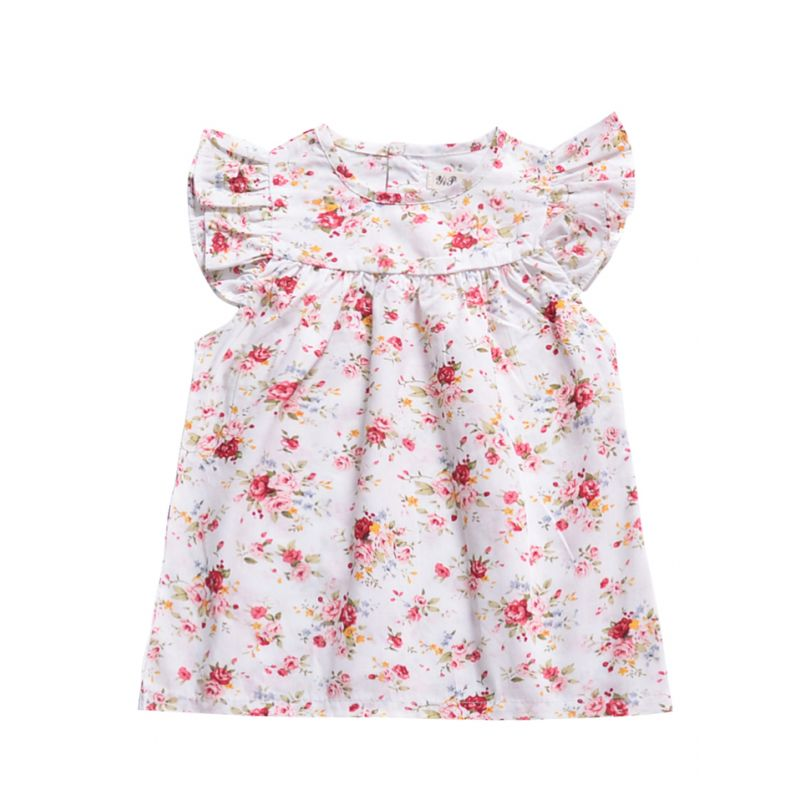 Baby Little Girl Floral Flutter Sleeve Summer Dress
