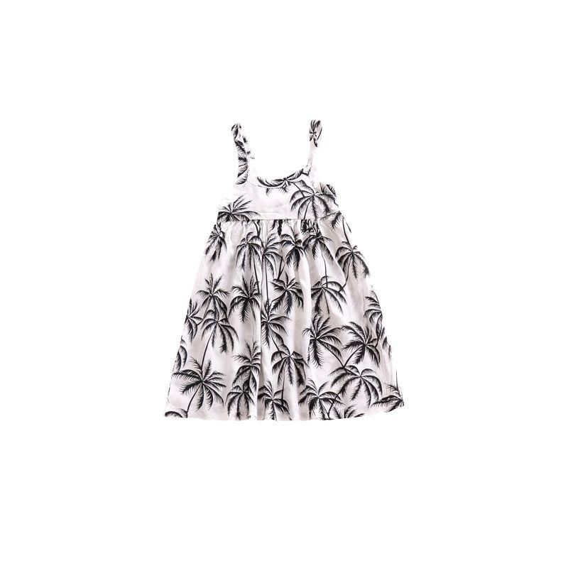 Coconut Tree Baby Toddler Girl Summer Sleeveless Slip Dress