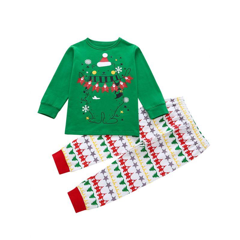 Kids Girls Christmas Dancing Reindeer Print Cap Sleeve Children Xmas T Shirt Top